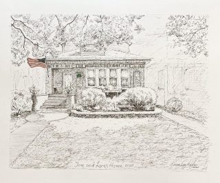 A pen and ink Christmas gift to Lara (my daughter) and Tom of their new home in Chicago!! #penandink #chicago