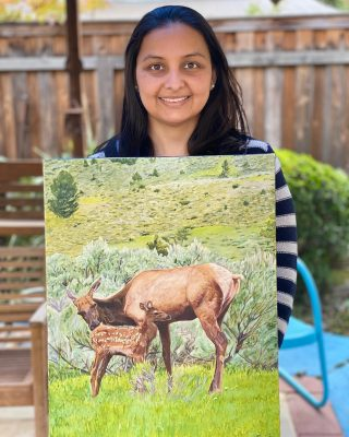Absolutely beautiful painting by Sonia! #oilpainting #elk